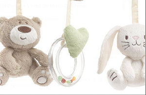 Plush Mobile - Bear Rabbit and Rattle