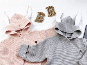 Milancel 2018 Baby Blankets Newborn Knitted Baby Covers Rabbit Ear Swaddling Baby Wrap Photography Bunny Style Swaddle Wrap