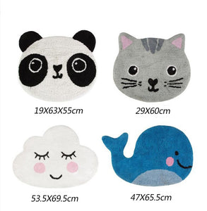 Children's Animal Head Rug - Cloud