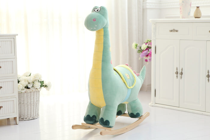 Plush Animal Rocker - Mint Dinoraur