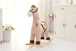 Plush Animal Rocker - Brown Horse