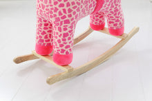 Plush Animal Rocker - Pink Giraffe