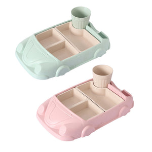 Eco-friendly Dinner Plate Tray Set - Car
