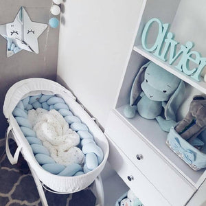Long Braided Cot Bumpers  Bumper in the Crib Toys