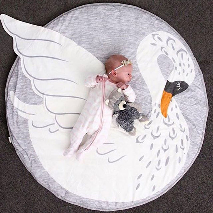 Round Baby Playmat for Nursery Room