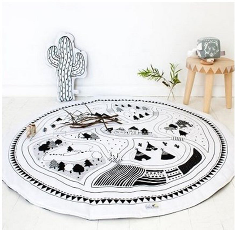 Explosions children 's Play mats crawling pad game carpet rug Europe and the United States baby home printing game pad