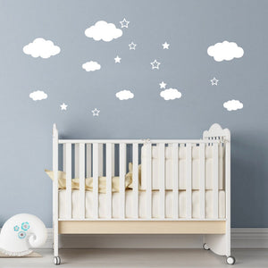 Wall Decal - Clouds and Stars