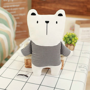 Black & White Stuffed Animal - Bear