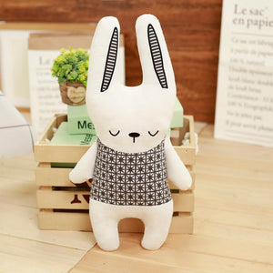Black & White Stuffed Animal - Bunny