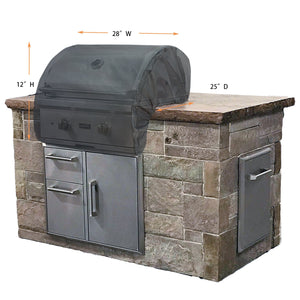 "Grill Cover Titanium 26"" Build-in Grill Cover (28""x25""x12"")"