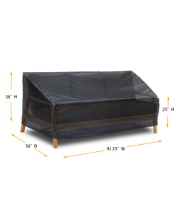 "Sofa Cover Large - 91.73""W*36""D*23""/36""H Gold"
