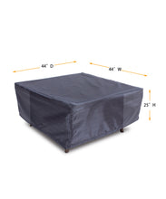 "Fire Table Cover Square - 44"" W x 44"" D x 25"" H Gold"