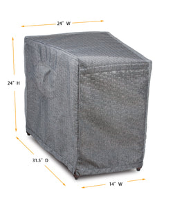 "Accent Table Cover Platinum Wedge - 14""(F)/24""(B)W x  31.5""D x 24.5H"