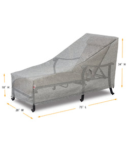 "Lounge Cover Rectangle - 73""W x 28""D x 18''/22.5""/37''H Platinum"