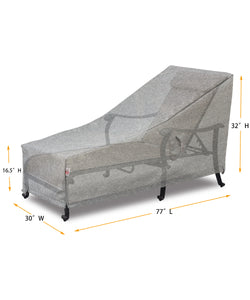 "Lounge Cover Rectangle - 77""W x 30""D x 16.5''/22.5""/32''H Platinum"