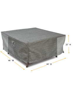 "Fire Table Cover Square - 44"" W x 44"" D x 25"" H Platinum"