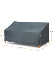 "Sofa Cover Medium - 86""W x 35""D x 24''/36""H Titanium"