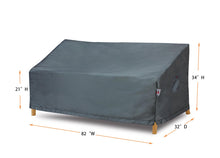 "Sofa Cover Small - 82""W x 32""D x 21''/34""H Titanium"