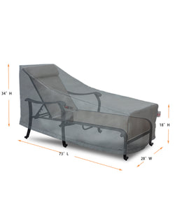 "Lounge Cover Rectangle - 73""W x 28""D x 18''/22.5""/37''H Titanium"