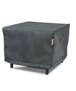 Accent Table Cover Titanium Square - 25''Wx25'Dx18.5''H