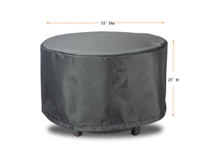 Fire Table Cover Round - 36.5'Dia'x25''H Titanium