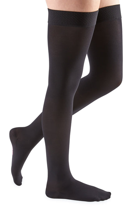 mediven comfort, 15-20 mmHg, Thigh High with Silicone Top-Band, Closed Toe