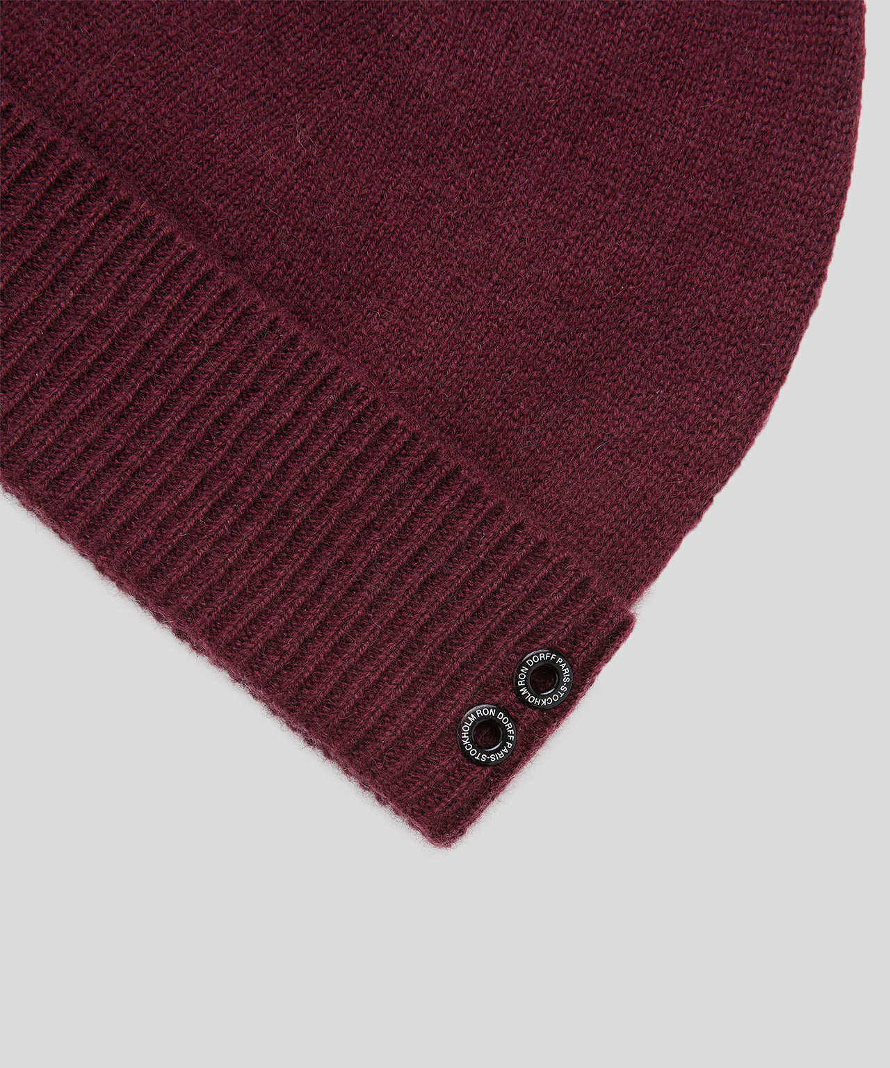 Cashmere Beanie His For Her - burgundy red