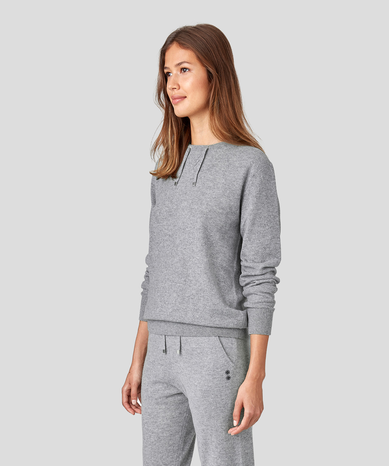 Cashmere Drawstring His For Her - grey melange