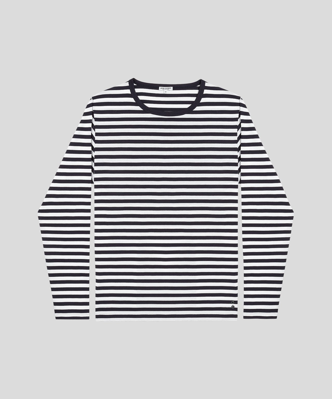 Long-Sleeved T-Shirt - navy / white