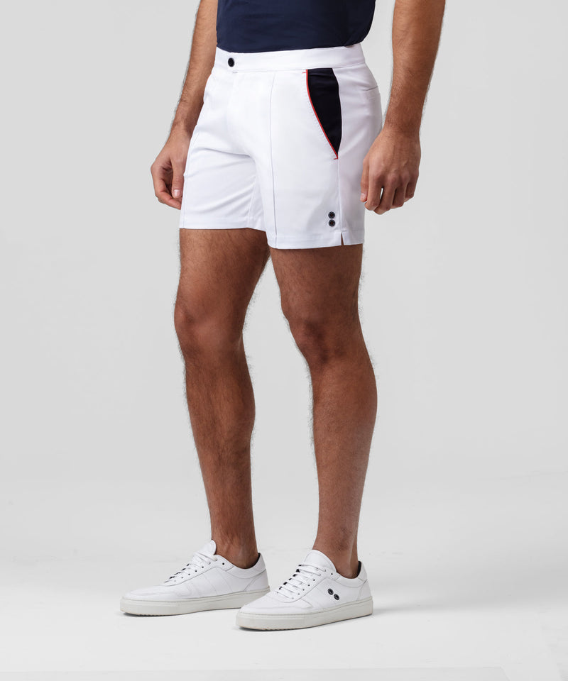 Tri-color Tennis Shorts - off white