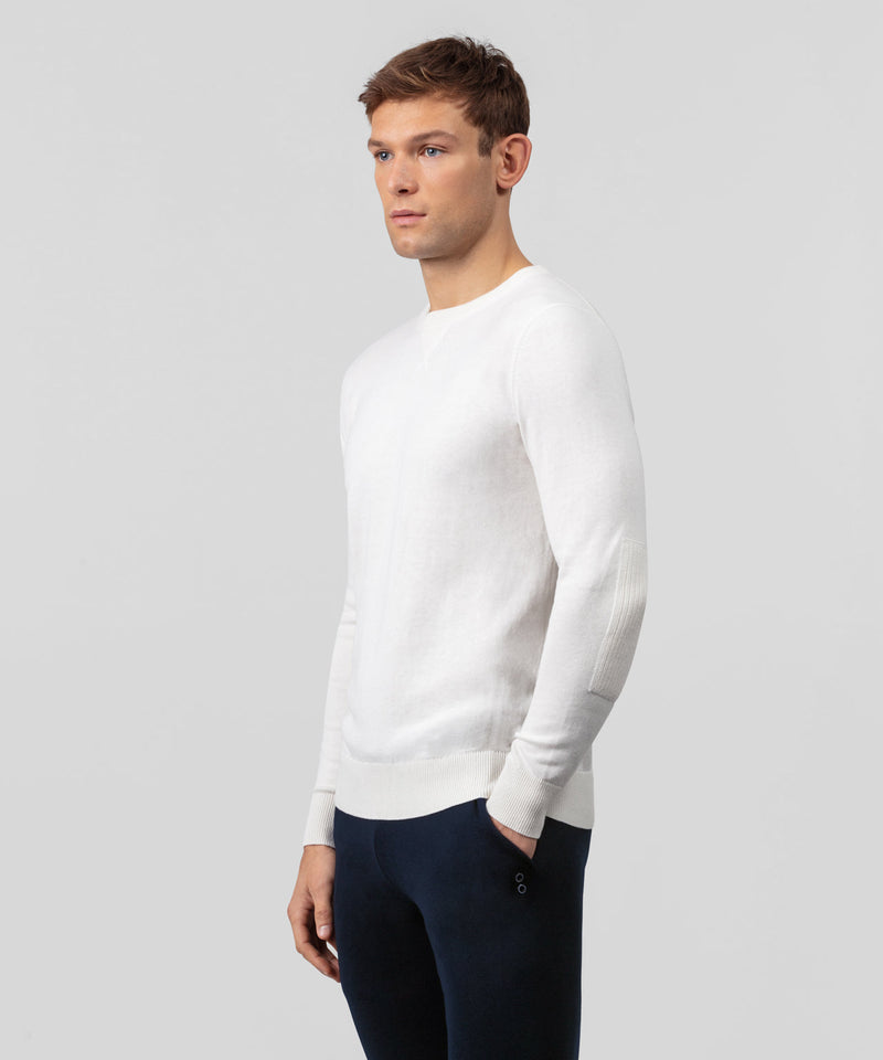 Cotton Cashmere Army Pullover - off white