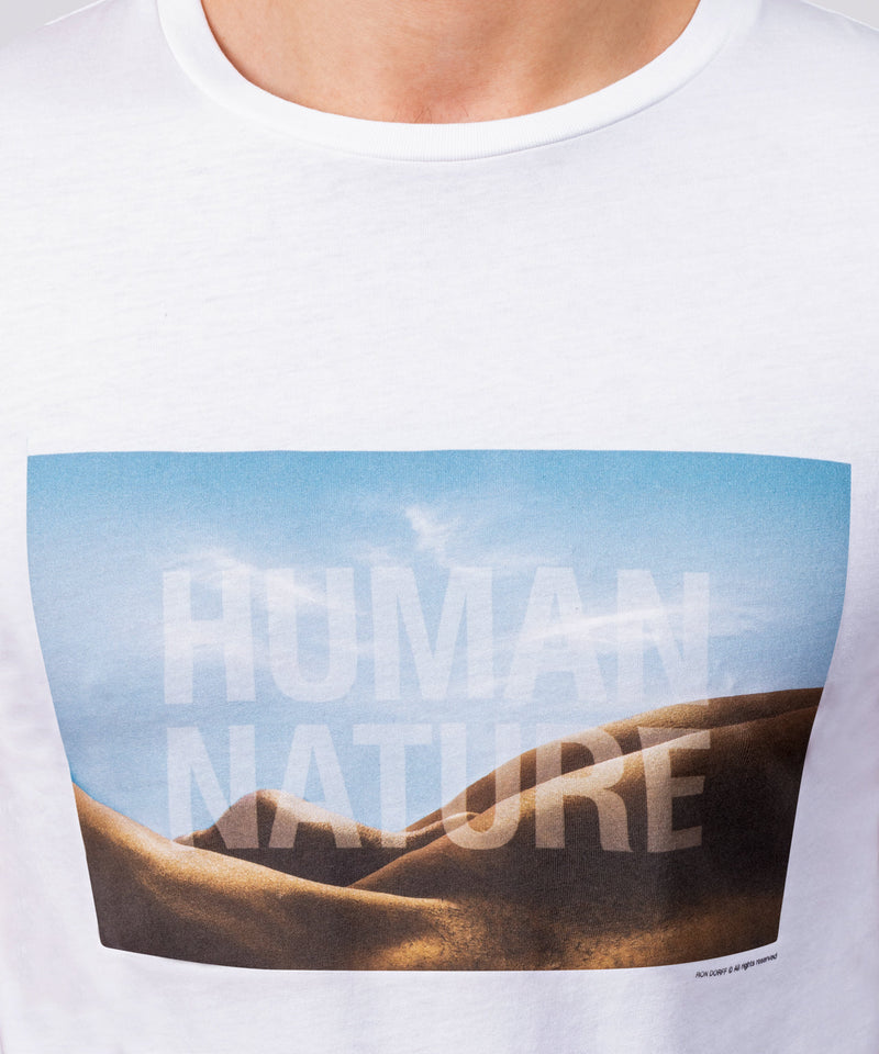 T-Shirt HUMAN NATURE - white