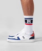 Sports Socks RD Stripes - white/hot red/california blue