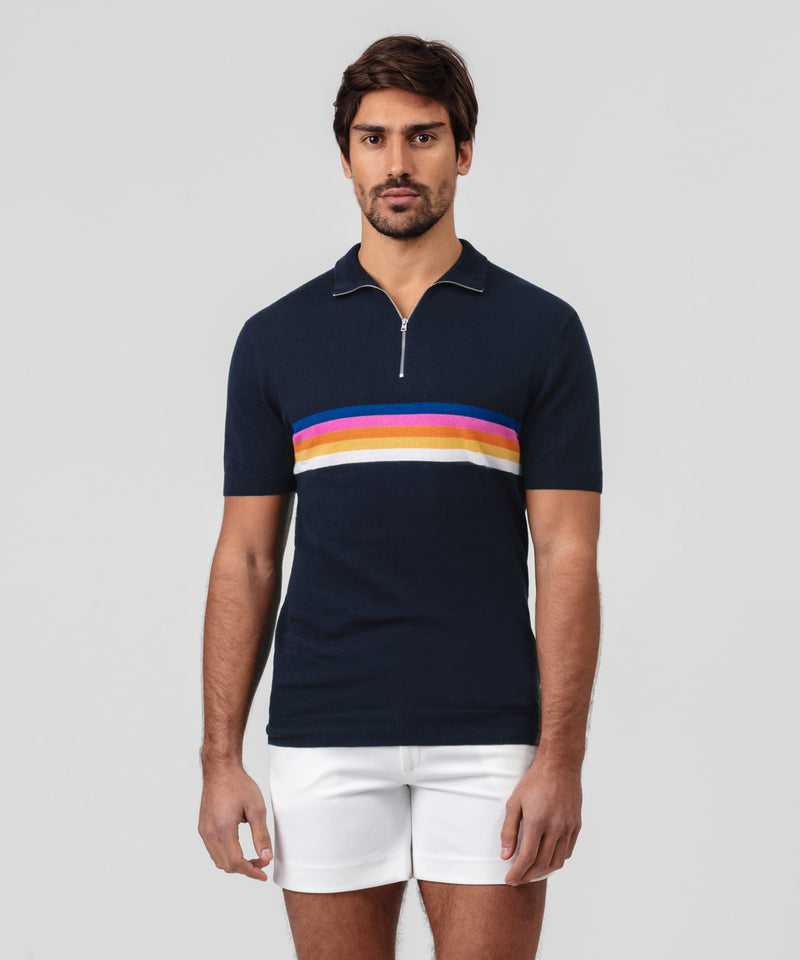 RD Polo Chest Stripes - navy