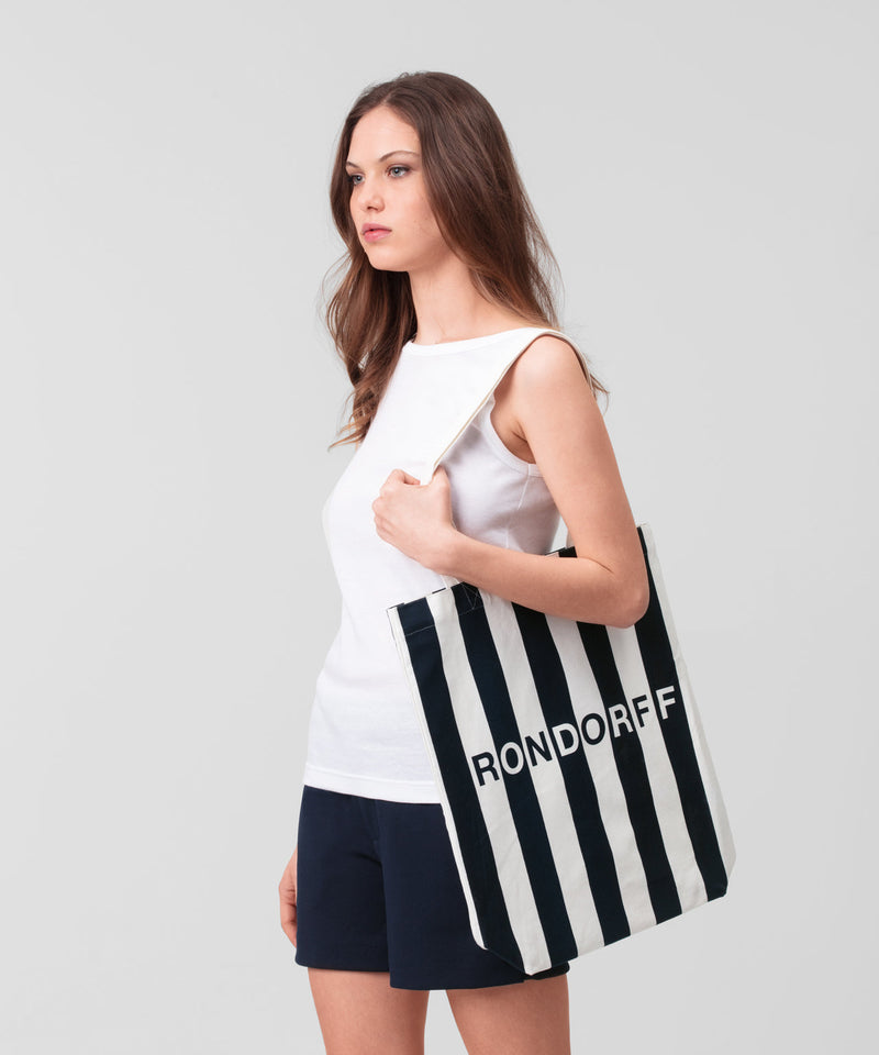 Tote Bag RON DORFF His For Her - navy/white