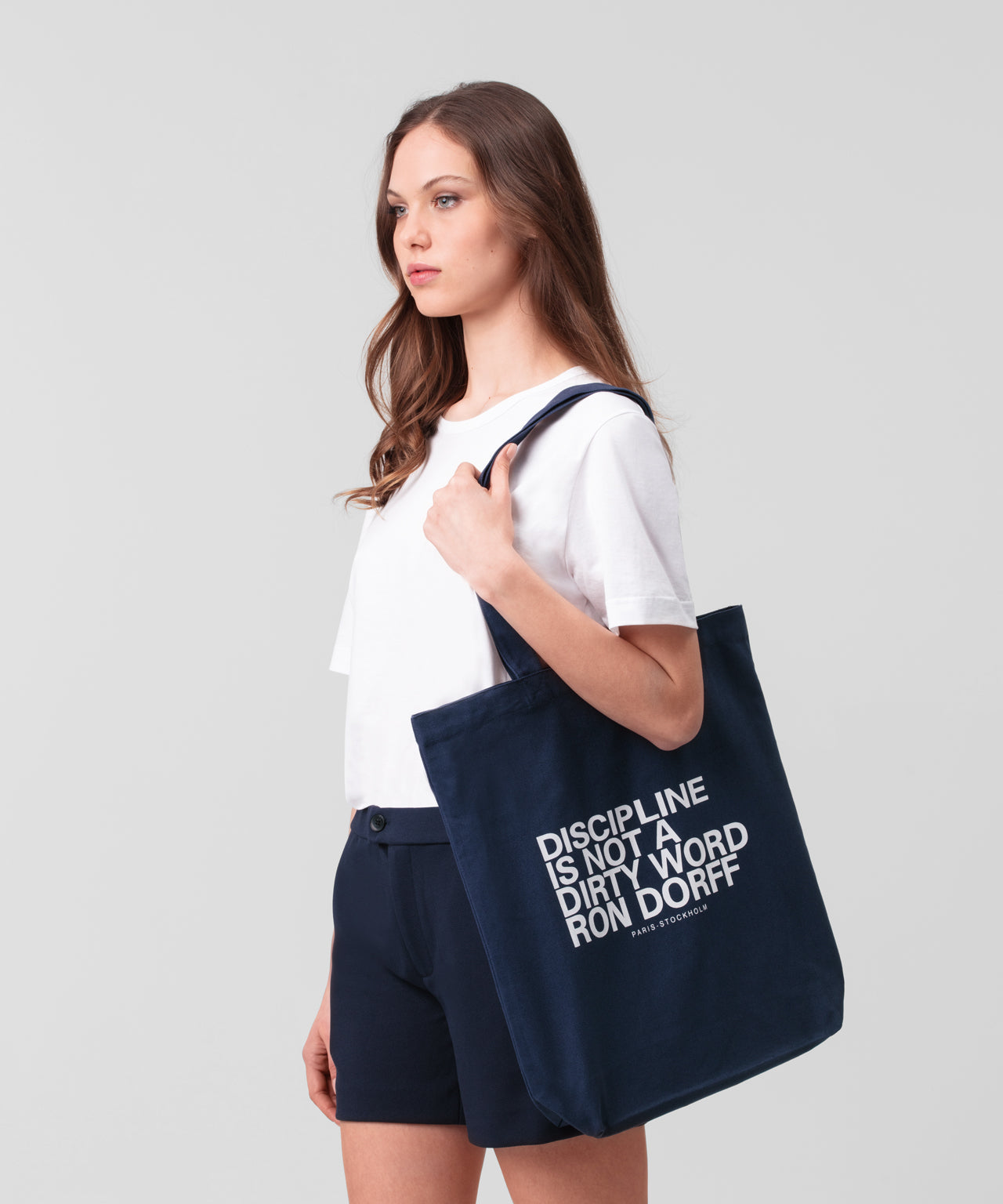 Tote Bag DISCIPLINE His For Her - navy
