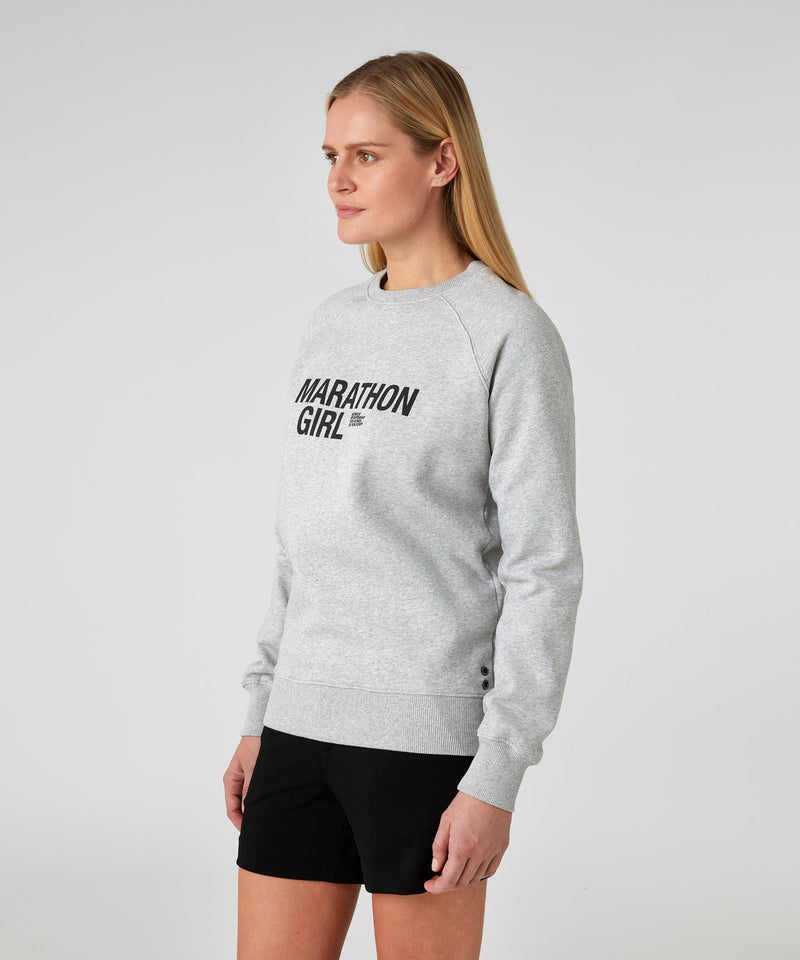 Sweatshirt MARATHON GIRL - grey melange