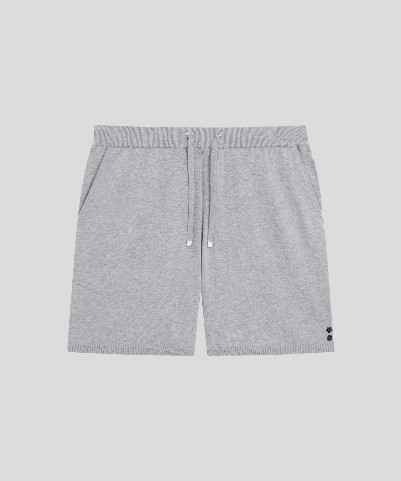 Cotton Cashmere Shorts - grey melange