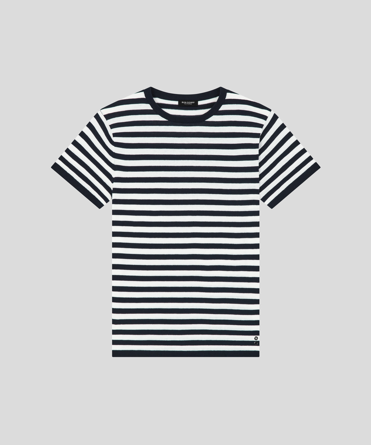 Knitted T-Shirt - navy / white