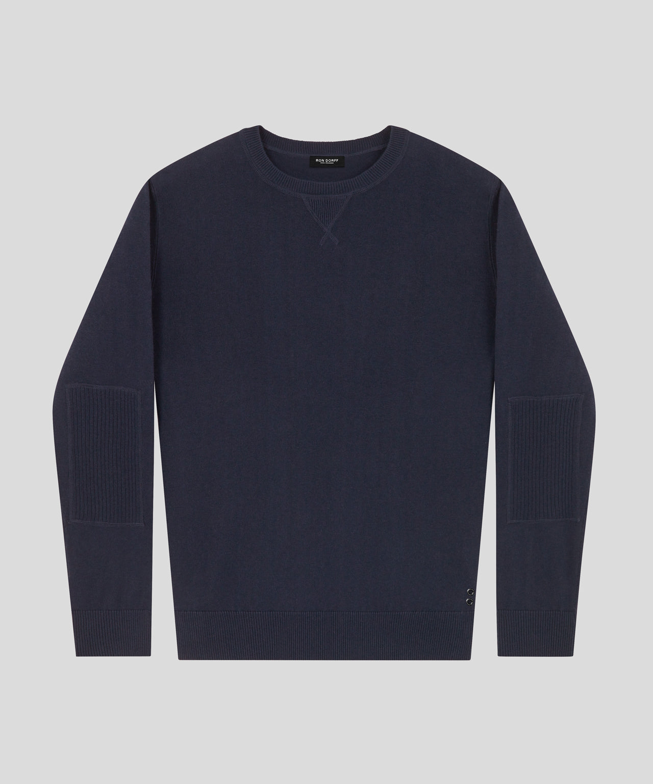 Cotton Cashmere Army Pullover - navy