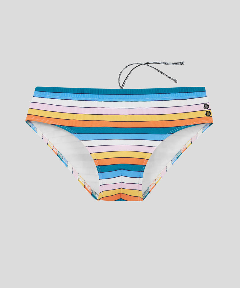 Swim Briefs Multico Stripes - pacific green/sun yellow