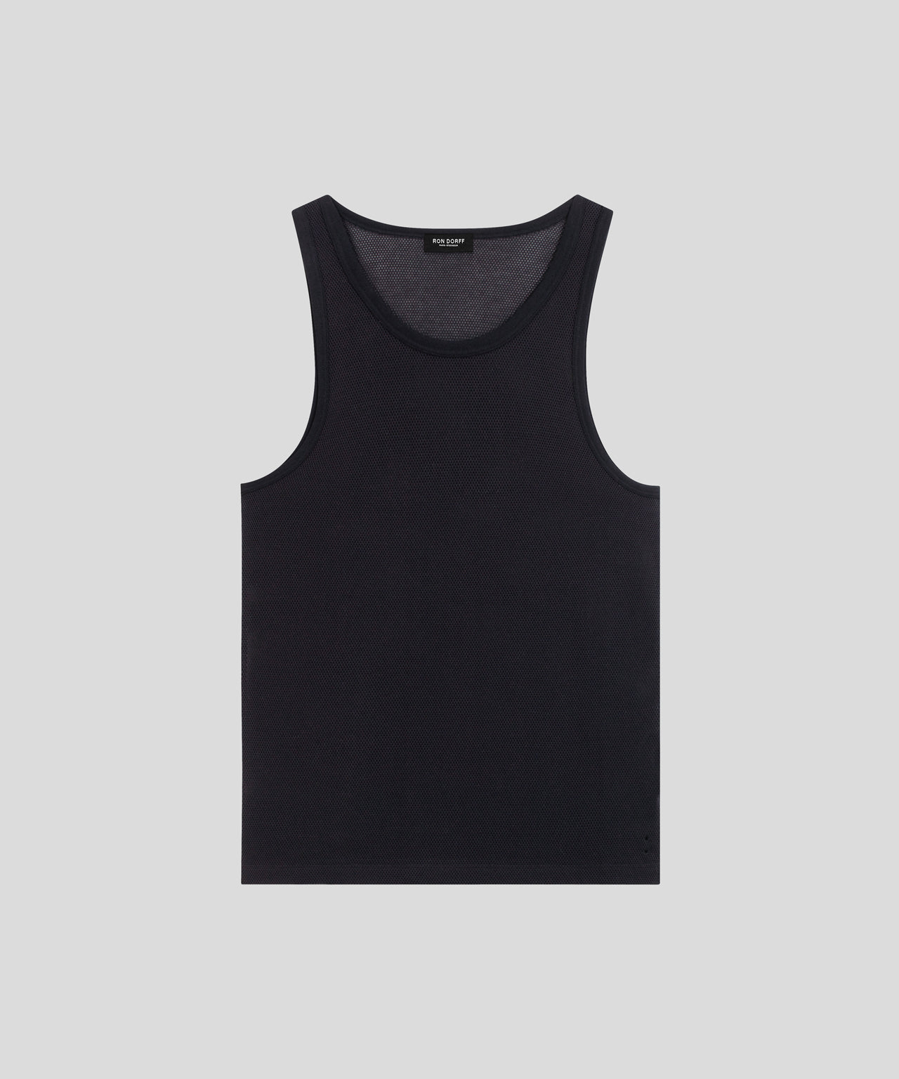 Underwear Tank Top Mesh His for Her - black