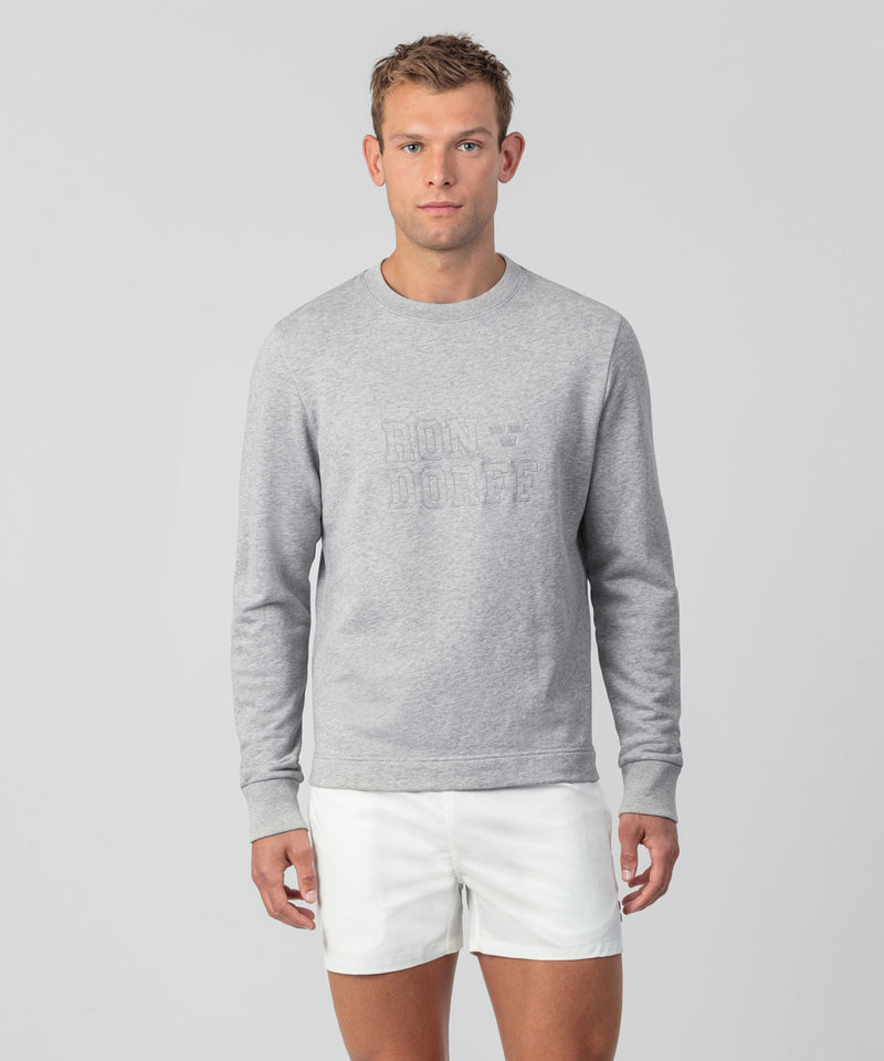 Light Sweatshirt RON DORFF Embroidery - grey melange