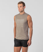 Sleeveless T-Shirt REBOUND - frozen khaki