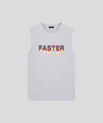 Sleeveless T-Shirt FASTER - grey melange