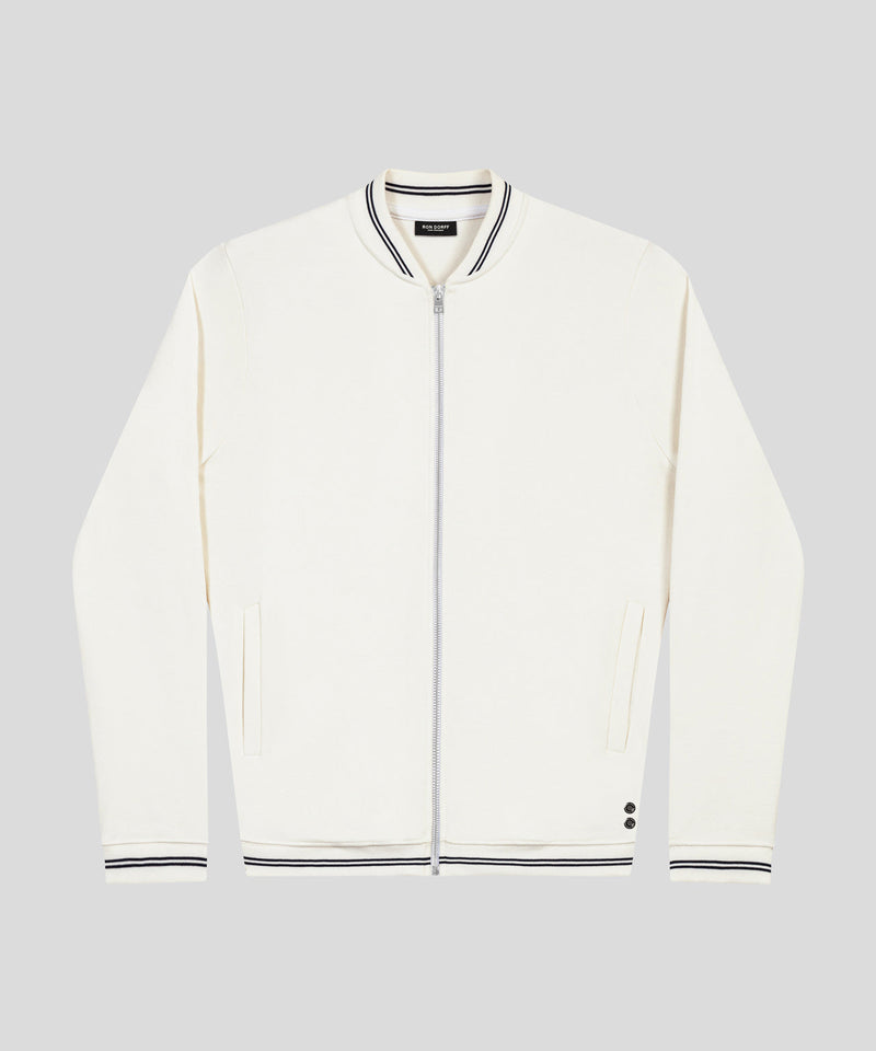 Tennis Jacket Piqué - off white
