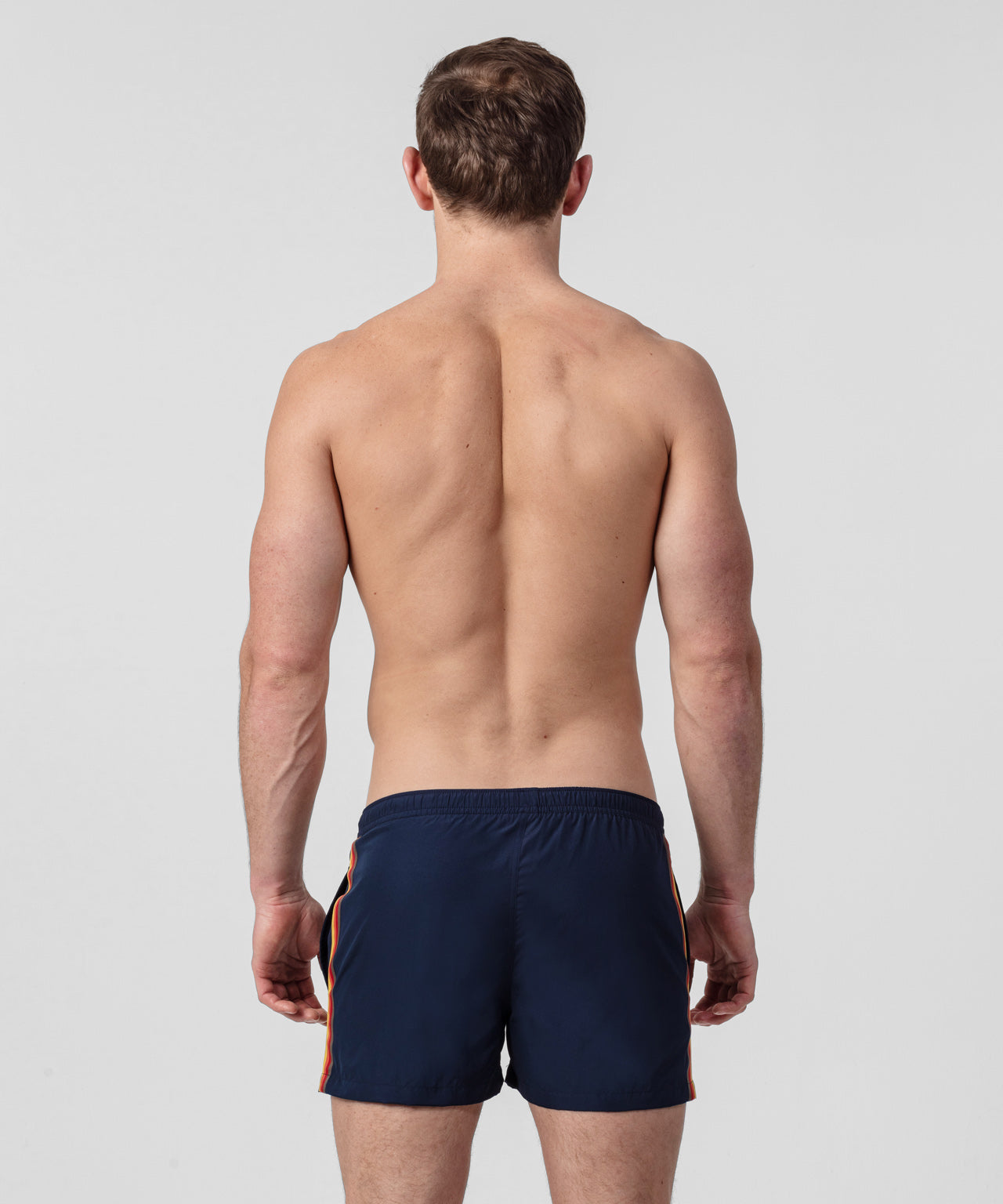 Swim Shorts Side Stripes - navy/red