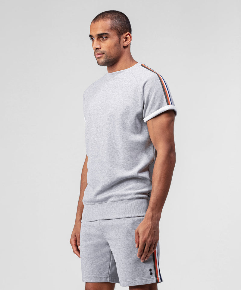 Short-Sleeved Sweatshirt - grey melange