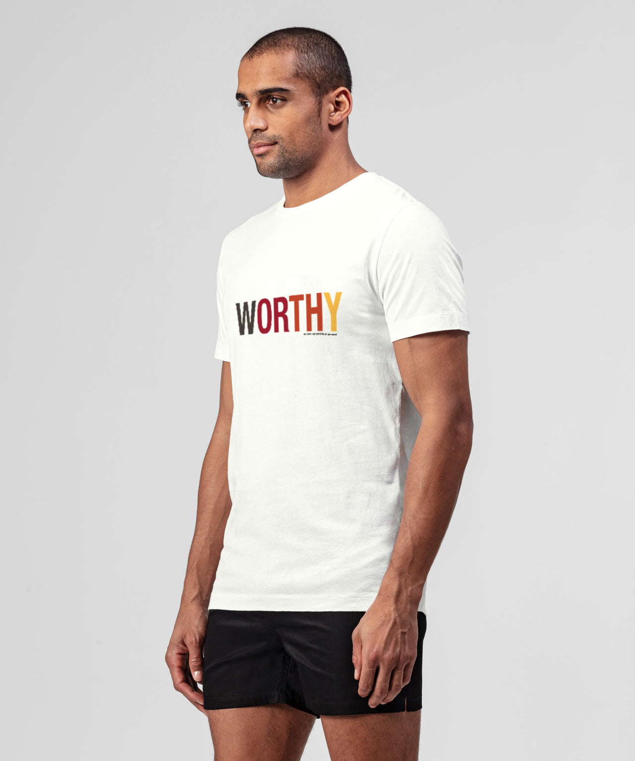 T-Shirt WORTHY - white