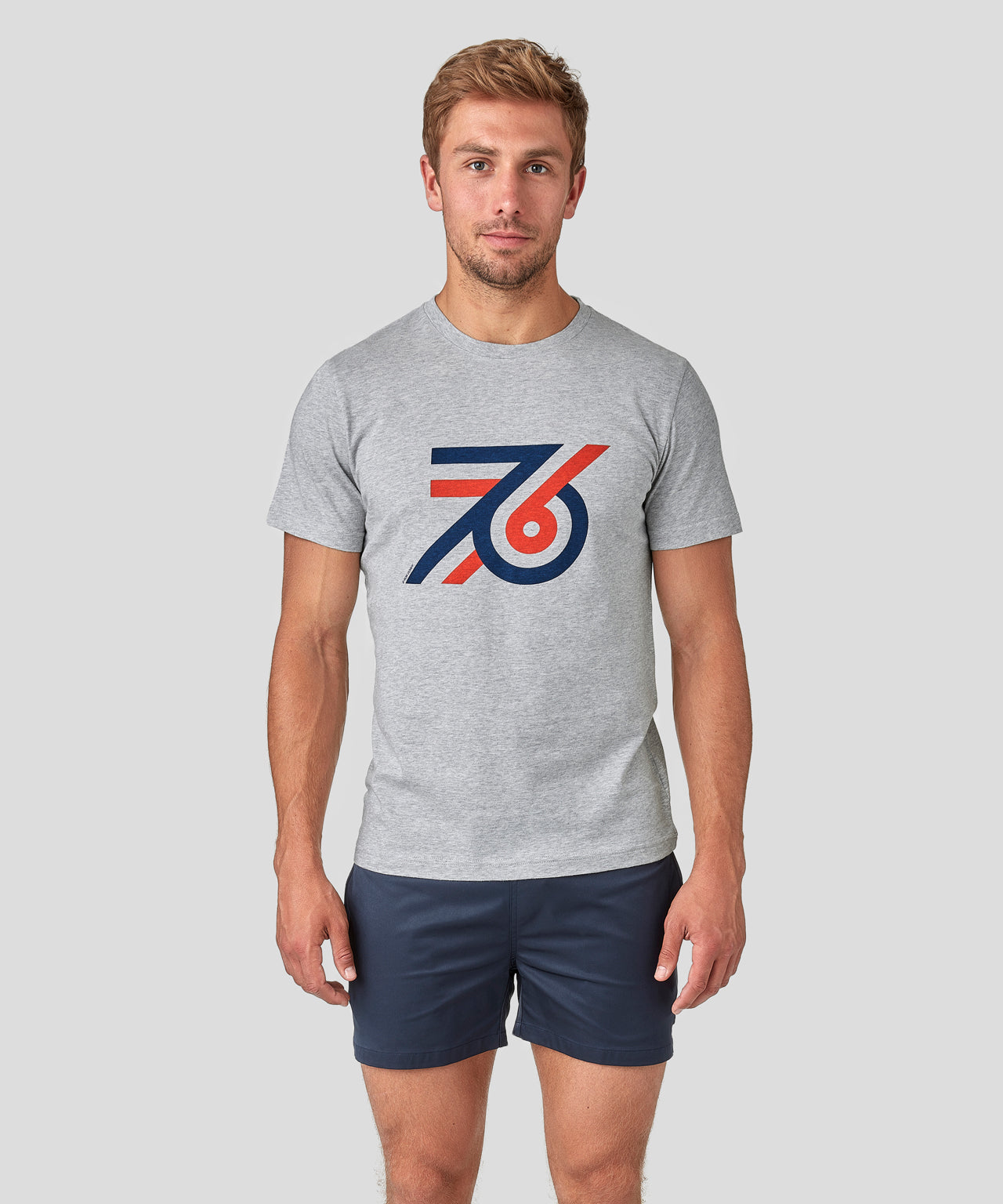 T-Shirt 76 - grey melange